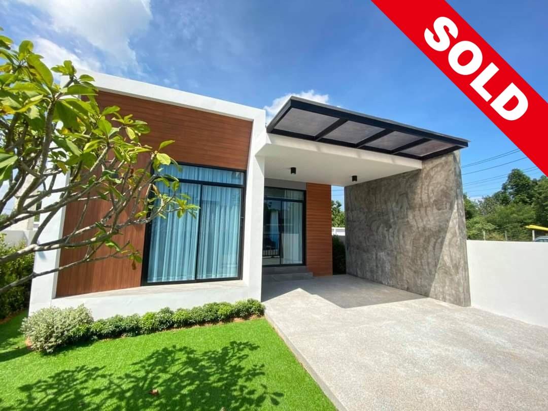 SOLD! ขายบ้านเดี่ยวโมเดิร์นราคาถูก Modern House For Sale