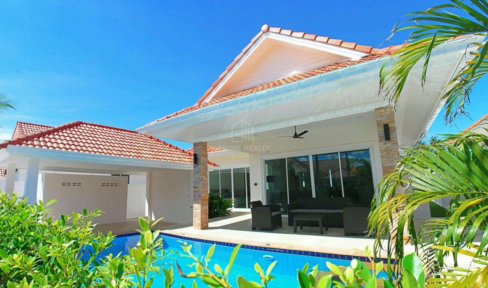 ขายบ้านตากอากาศใกล้สนามกอล์ฟ Pool Villa Hua Hin For Sale