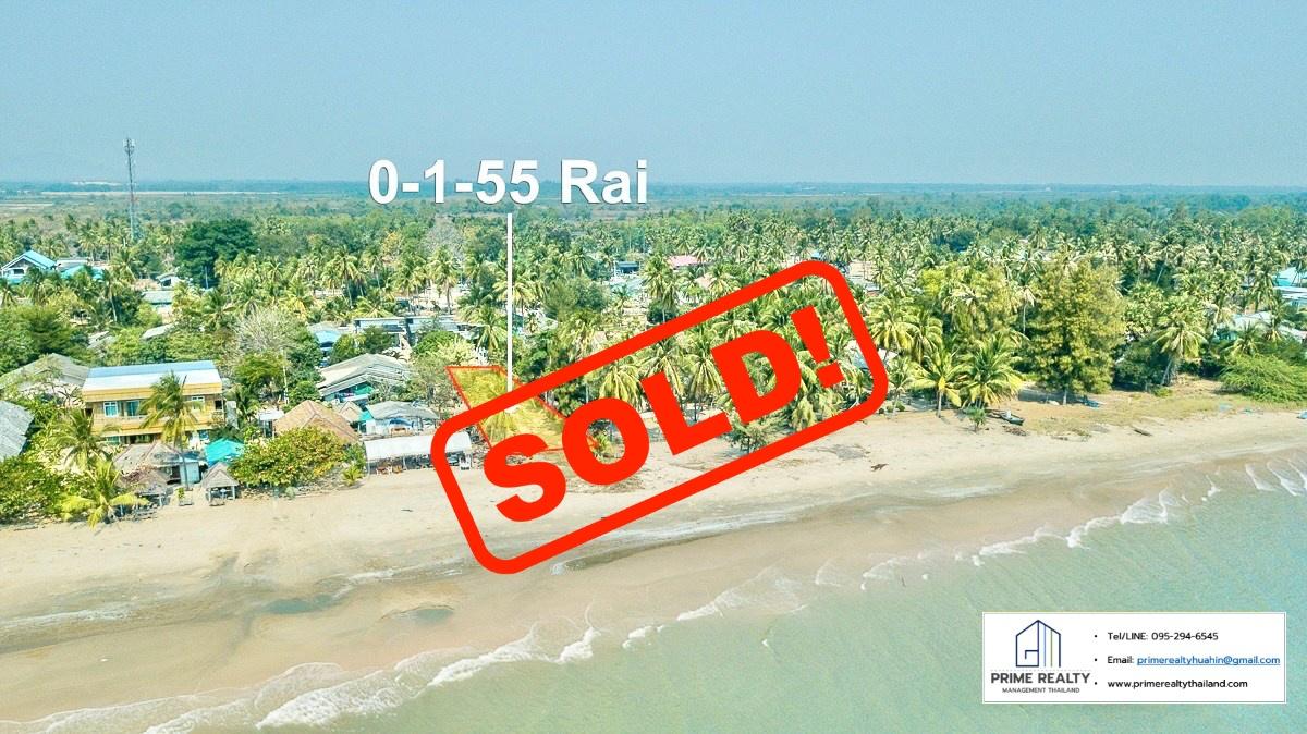 SOLD!! ขายที่ดินสวยติดทะเลกุยบุรี Beachfront Land For Sale at Kui Buri